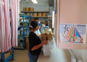 Volunteers in the Food Closet - 2014