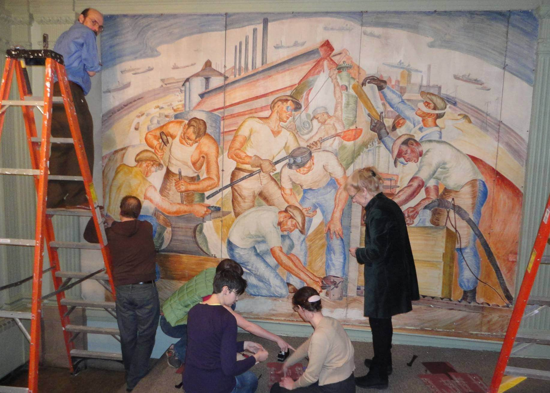 Getting Ready for the Mural Restoration - 2012